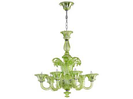 Cyan Design Lascala Green Six-Light 30'' Wide Chandelier