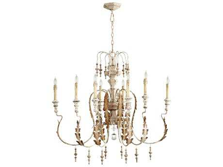 Cyan Design Motivo Persian White Eight-Light 35'' Wide Chandelier