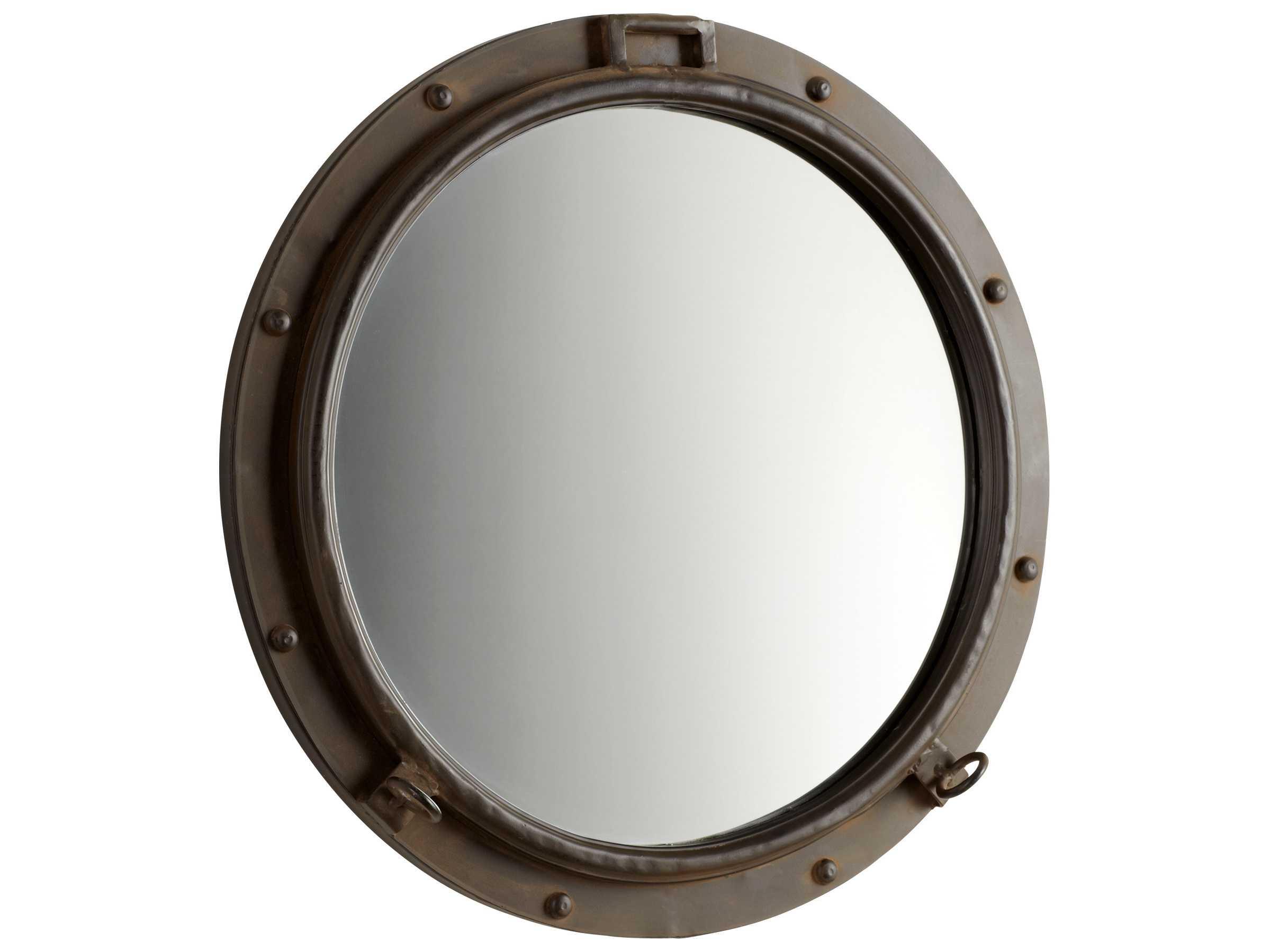 Bronze Wall Mirror: Cyan Design Porto 24 X 24 Rustic Bronze Wall Mirror