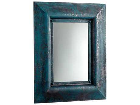 Cyan Design Chinito 31 x 39 Ancient Blue Wall Mirror