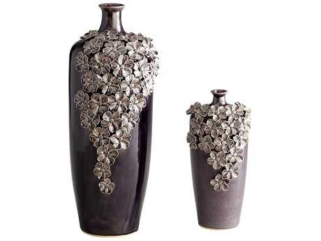 Cyan Design Black Daisy Vase