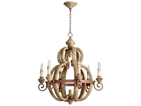 Cyan Design Atocha Sutherland Buff & Rust Six-Light 27'' Wide Chandelier
