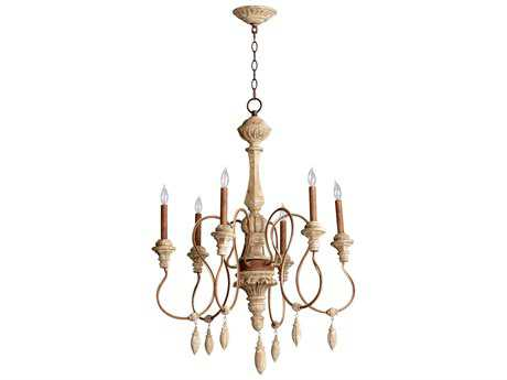 Cyan Design Alda Sutherland Buff Six-Light 28'' Wide Chandelier