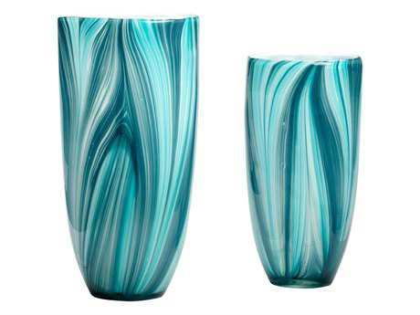 Cyan Design Turin Turquoise Blue Vase