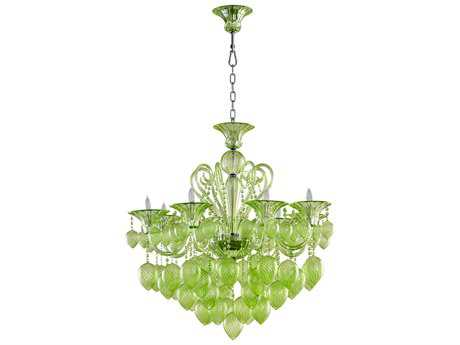 Cyan Design Bella Vetro Green Eight-Light 34'' Wide Chandelier