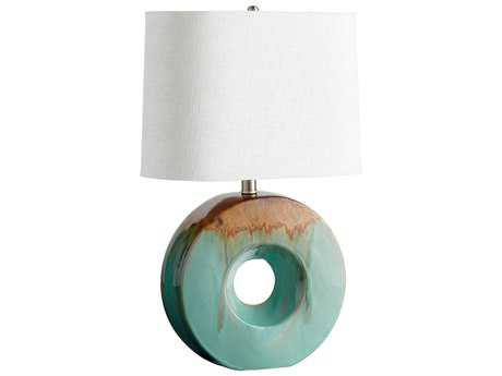 Cyan Design Blue Glaze & Brown Oh Table Lamp