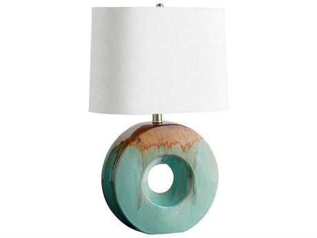 Cyan Design Blue Glaze & Brown Oh Table Lamp