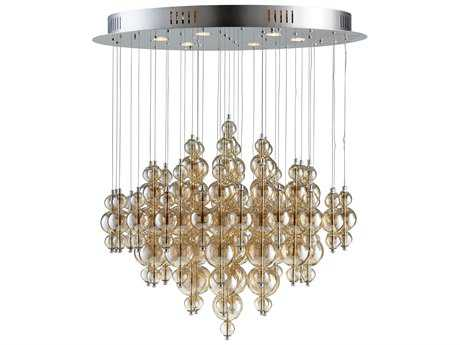 Cyan Design Bubbles Cash Smokey Brown Six-Light 35'' Wide Grand Chandelier