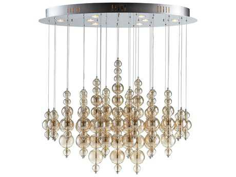 Cyan Design Bubbles Cash Smokey Brown Eight-Light 25'' Wide Grand Chandelier