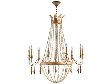 Cyan Design Alexandra Gold Nine-Light 37'' Wide Chandelier