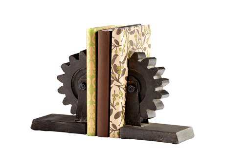 Cyan Design Raw Steel Gear Book End