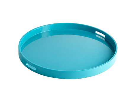 Cyan Design Estelle Teal Lacquer Serving Tray