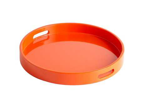 Cyan Design Orange Lacquer Serving Tray
