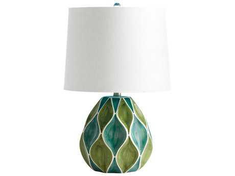 Cyan Design Glenwick Green & White Table Lamp