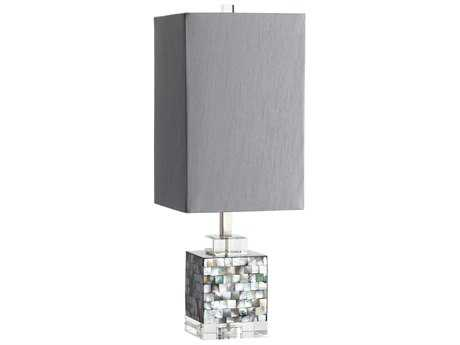 Cyan Design Johor Gray Mother of Pearl Table Lamp