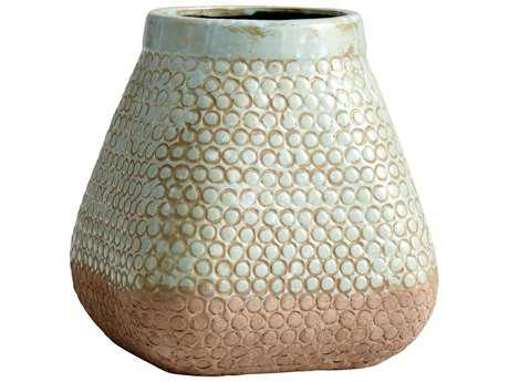 Cyan Design Large Pershing Sandstone & Blue Vase