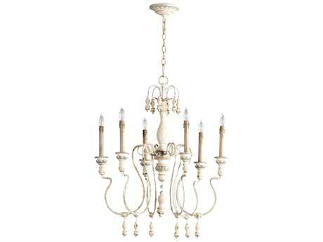 Cyan Design Parisian Blue Six-Light 25'' Wide Chandelier