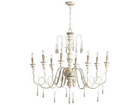 Cyan Design Parisian Blue Eight-Light 41'' Wide Chandelier