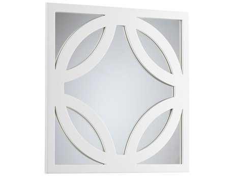 Cyan Design Brodax 24 x 24 Square White Lacquer Dresser Mirror