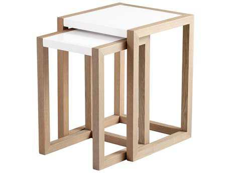 Cyan Design 17.5 x 18 Rectangular Becket Nesting Table