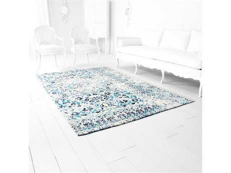 Cyan Design Toungoo Rectangular Ivory & Blue Area Rug