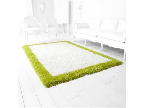 Cyan Design Kendal Rectangular White & Lime Green Area Rug
