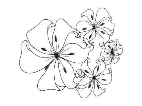 Cyan Design Graphite Fancy Flower Wall Art