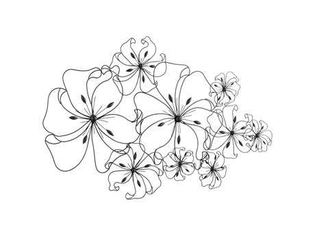 Cyan Design Graphite Six Flower Fancy Wall Art