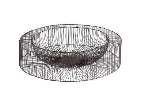 Cyan Design Wire Wheel Graphite Serving Tray