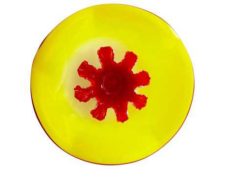 Cyan Design Crimsom Yellow & Red Decorative Plate