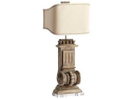Cyan Design Loft Limed Gracewood Two-Light Table Lamp
