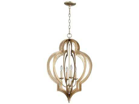 Cyan Design Vertigo Silver Leaf Four-Light 19'' Wide Chandelier