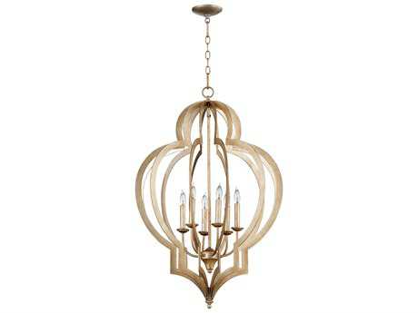 Cyan Design Vertigo Silver Leaf Six-Light 24'' Wide Chandelier