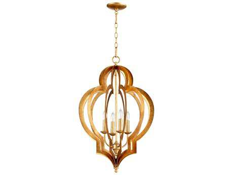 Cyan Design Vertigo Gold Leaf Four-Light 19'' Wide Chandelier