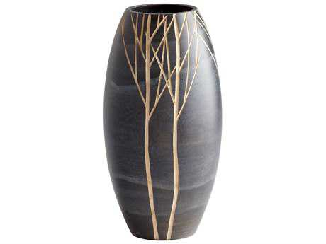 Cyan Design Onyx Winter Black Vase