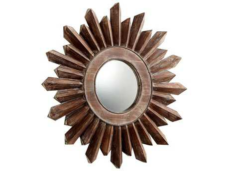 Cyan Design 35 x 35 Walnut Wall Excalibur Mirror