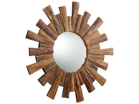 Cyan Design Reflection 36 x 36 Pecan Wall Mirror