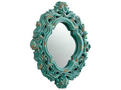 Cyan Design Fairest 16 x 21 Ancient Blue Wall Mirror