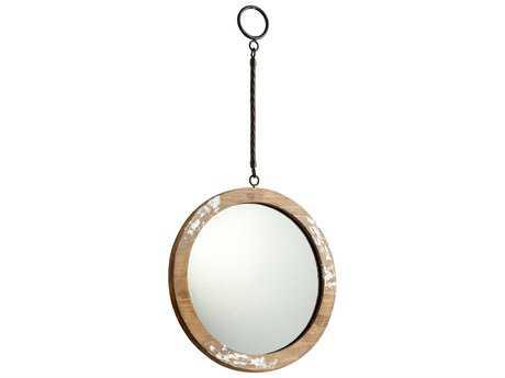 Cyan Design Through The Lookn 11 x 11 Antique White Wall Mirror