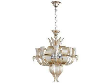 Cyan Design Juliana Cognac Eight-Light 28'' Wide Chandelier
