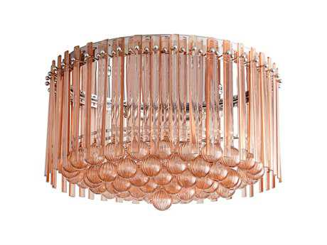 Cyan Design Lois Blush Three-Light Flush Mount Light