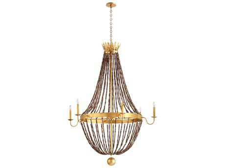 Cyan Design Alessia Gold Leaf Six-Light 44'' Wide Grand Chandelier