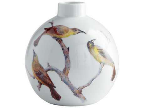 Cyan Design White Aviary Vase