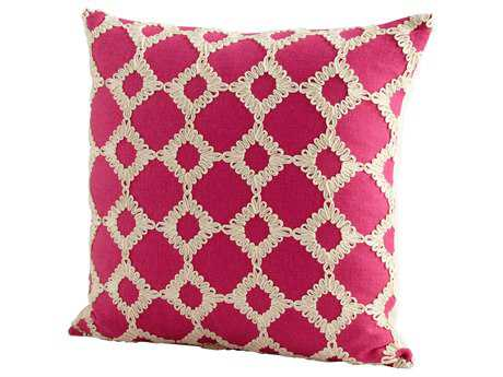 Cyan Design Pink Repeat After Me Pillow