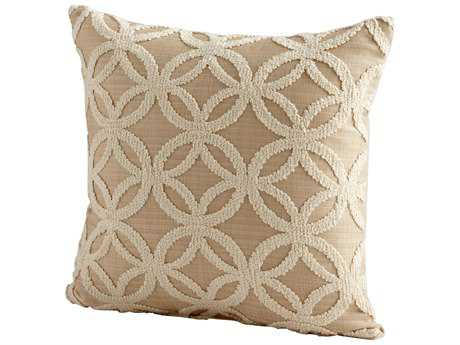 Cyan Design Taupe Circle of Life Pillow
