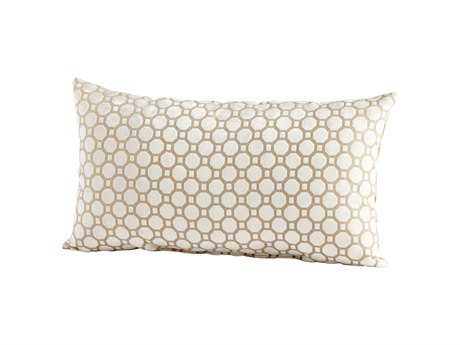 Cyan Design Taupe Raindrops Keep Fallng Pillow