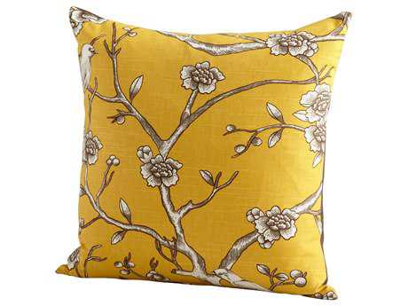 Cyan Design Yellow Nature Lover Pillow
