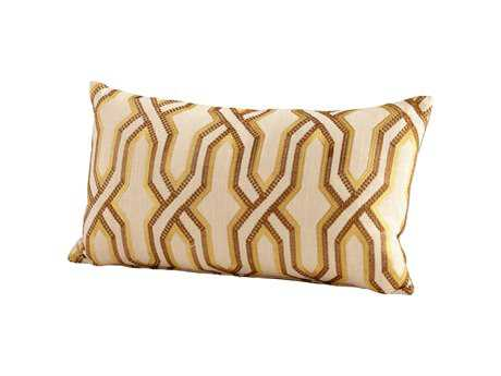Cyan Design Yellow Twist and Turn Pillow