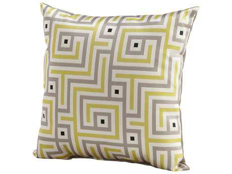 Cyan Design Lime Green Maze Pillow