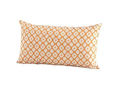 Cyan Design Orange Dot Matrix Pillow